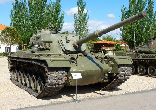 An M48A5 Patton with the bigger 105 mm M68 gun.