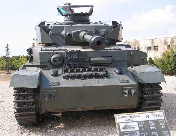 'PzKpfw IV J, captured from the Syrian Army in the Six Day War, in Yad la-Shiryon Museum, Israel. 2005.Photo Bukvoed CC BY 2.5