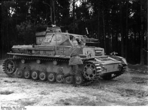 Soldier during a Training on a Panzer IV.Bundesarchiv, Bild 183-J08352 CC-BY-SA 3.0