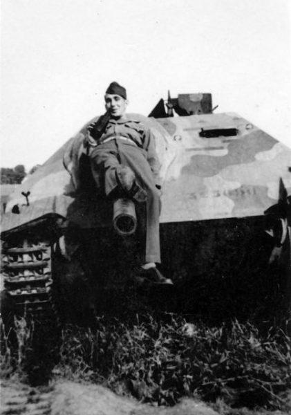 Captured Hetzer 1945.