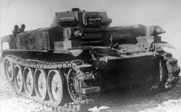 Captured Panzer II Flamingo Sd Kfz 122.