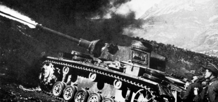 Flammpanzer III of the 44th Infantry Division 1943.