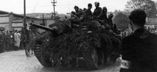 Hetzer in Czechoslovakia in May 1945.