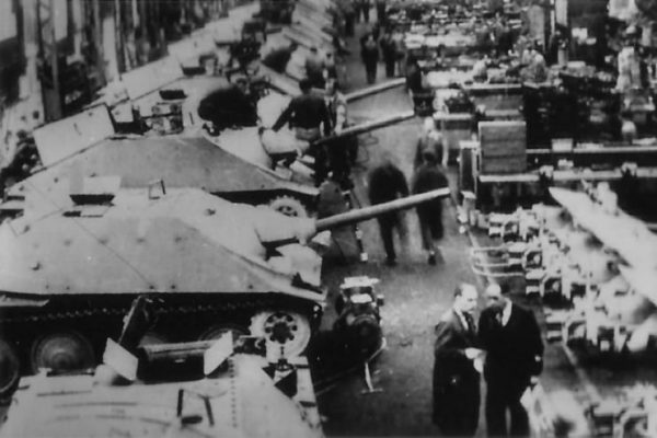 Hetzer Production Line at BMM – June 1944