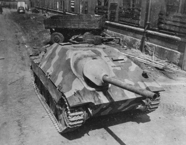 Hetzer Recovered at Skoda Works Factory in Pilsen, Czechoslovakia