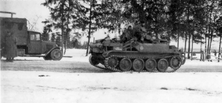 Panzer II Flamingo in service.