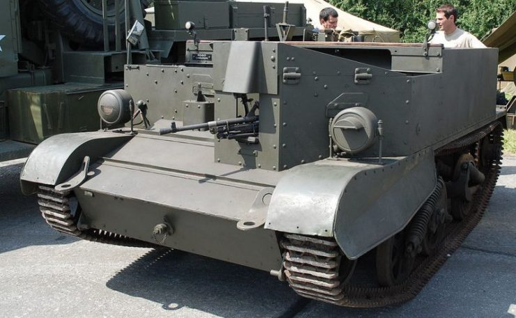 Universal carrier (mortar carrier) in Ursel, Belgium.Photo Paul Hermans CC BY-SA 3.0