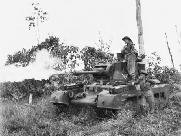 A Matilda Frog being demonstrated on Morotai, June 1945