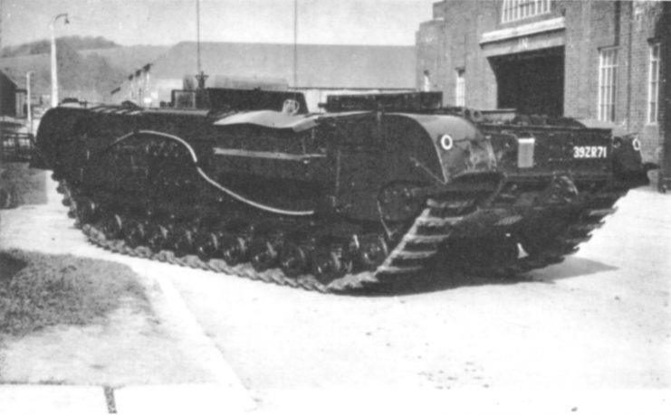 A postwar Churchill Kangaroo viewed from the left rear