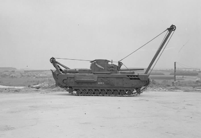 Churchill ARV Mk II with front jib erected
