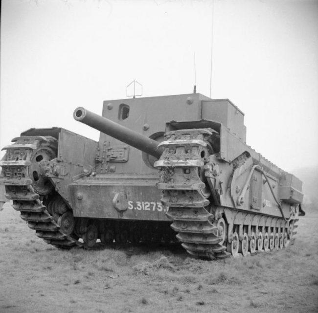 Churchill Gun Carrier in Dorset, 25 March 1943