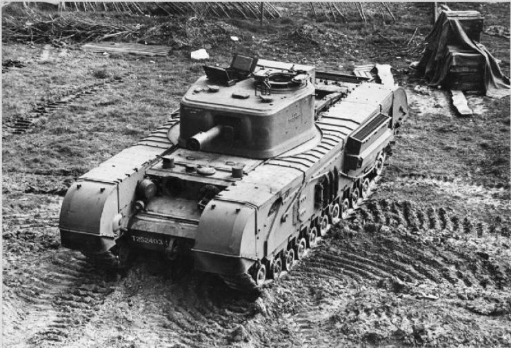 Churchill Mark VIII with 95mm howitzer