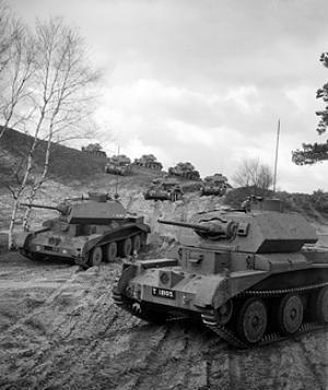 Cruiser Mk IVA tanks on exercise, 1st Armoured Division, 20 April 1941.