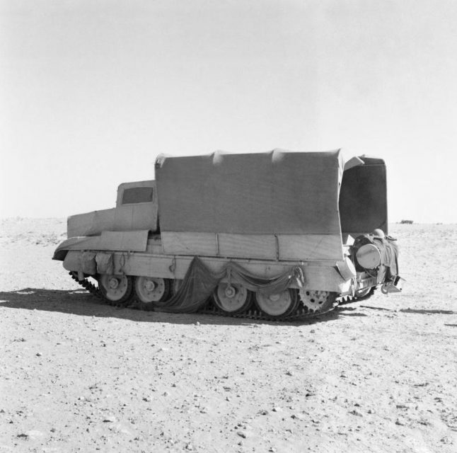 Crusader III before Alamein, with 'Sunshade' camouflage