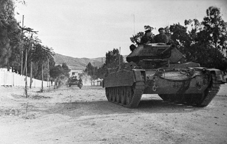 Crusader Mk III tanks in Tunisia, 31 December 1942.