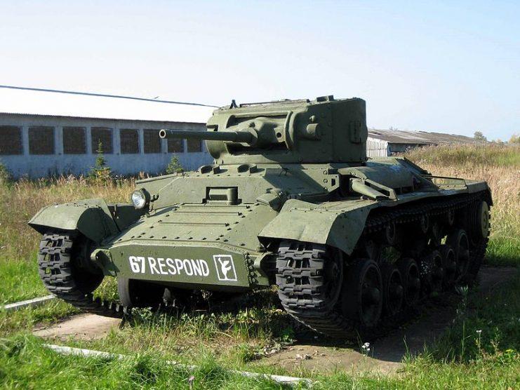 Infantry tank Valentine II in Kubinka tank museum, Russia. Photo Saiga20K CC BY-SA 3.0