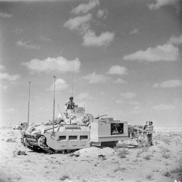 Matilda Scorpion in North Africa, 1942