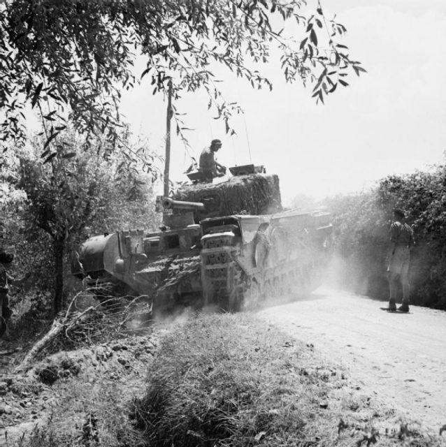 North Irish Horse Churchill advancing towards Florence, Italy. 23 July 1944.