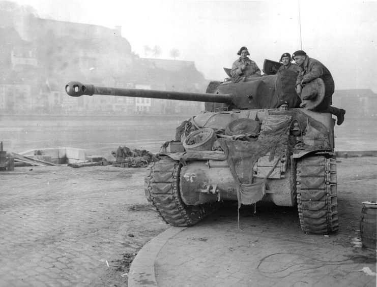 Sherman Firefly during the Battle of the Bulge, 1944