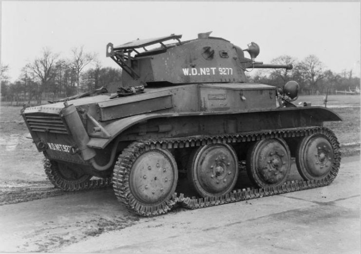 Side and rear view of a Tetrarch light tank